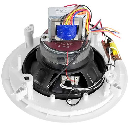 """Pyle Pro PDIC80T  8"""" Ceiling Speaker with 70V Transformer PDIC80T"""