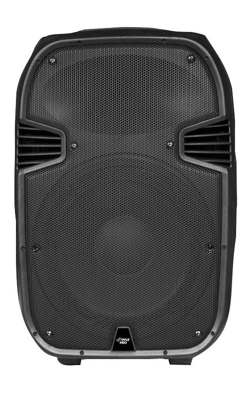 15'' 1400 Watt Portable Powered 2 Way Full Range PA Speaker w/Built-in iPod Dock USB SD and Remote control