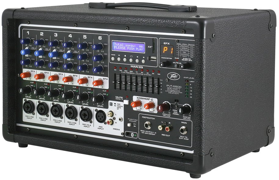 6 Channel 400W Powered Mixer
