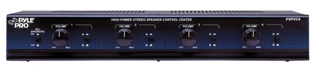 4 Channel Speaker Selector with Volume Control