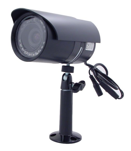 Weather Resistant Color IR Camera with Varifocal Lens in Black