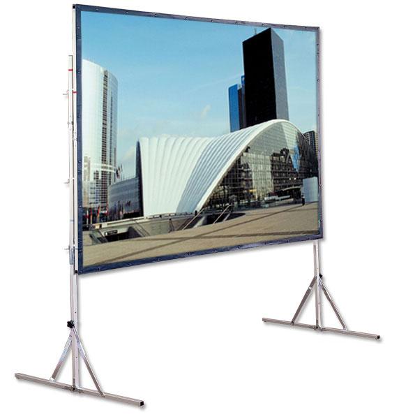 Cinefold Portable Screen w/Legs, 9' x 12'