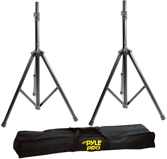 Heavy Duty Aluminum Speaker Stands with Soft Case