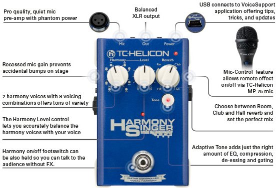 tc helicon harmony singer manual Harmony Singer Guitar-Controlled Vocal Harmony, Tone and Reverb ...