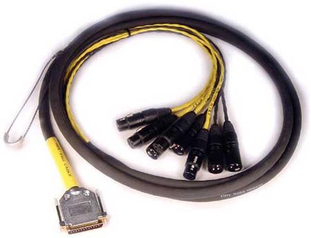 4 ft. DB25 AES.EBU to 4x XLR-M, 4x XLR-F DigiSnake