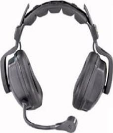 TCS Wired Double Muff Headset with Microphone and Mute Switch