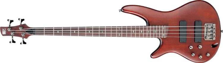 Brown Mahogany SR Series Left-Handed Electric Bass
