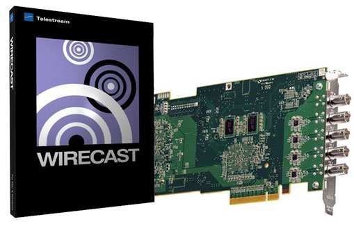 Quad HD-SDI Capture Card with Telestream Wirecast Studio 4 for Windows