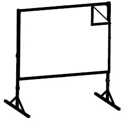 8'x14' Fast-Fold® Deluxe Da-Tex® Rear Projection Replacement Screen Surface