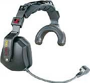 TCS Wired Single Muff Headset with Microphone and Mute Switch