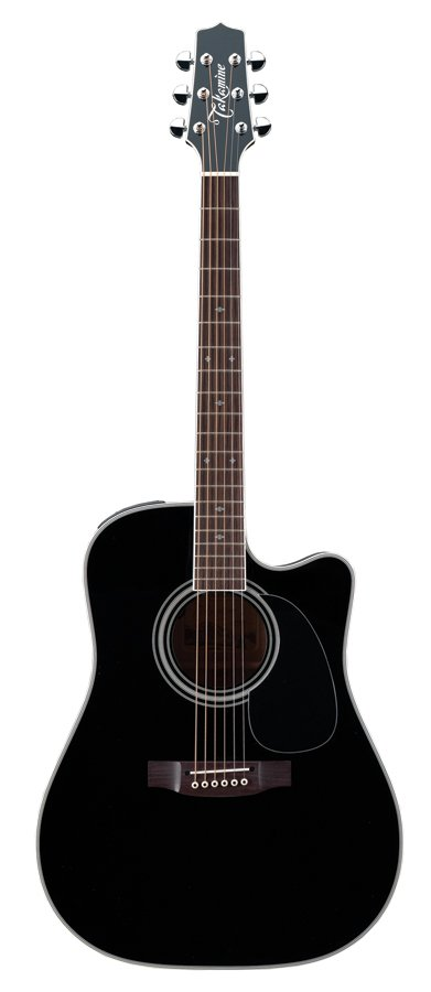 Legacy Series Black Dreadnought Cutaway Acoustic/Electric Guitar with Hardshell Case