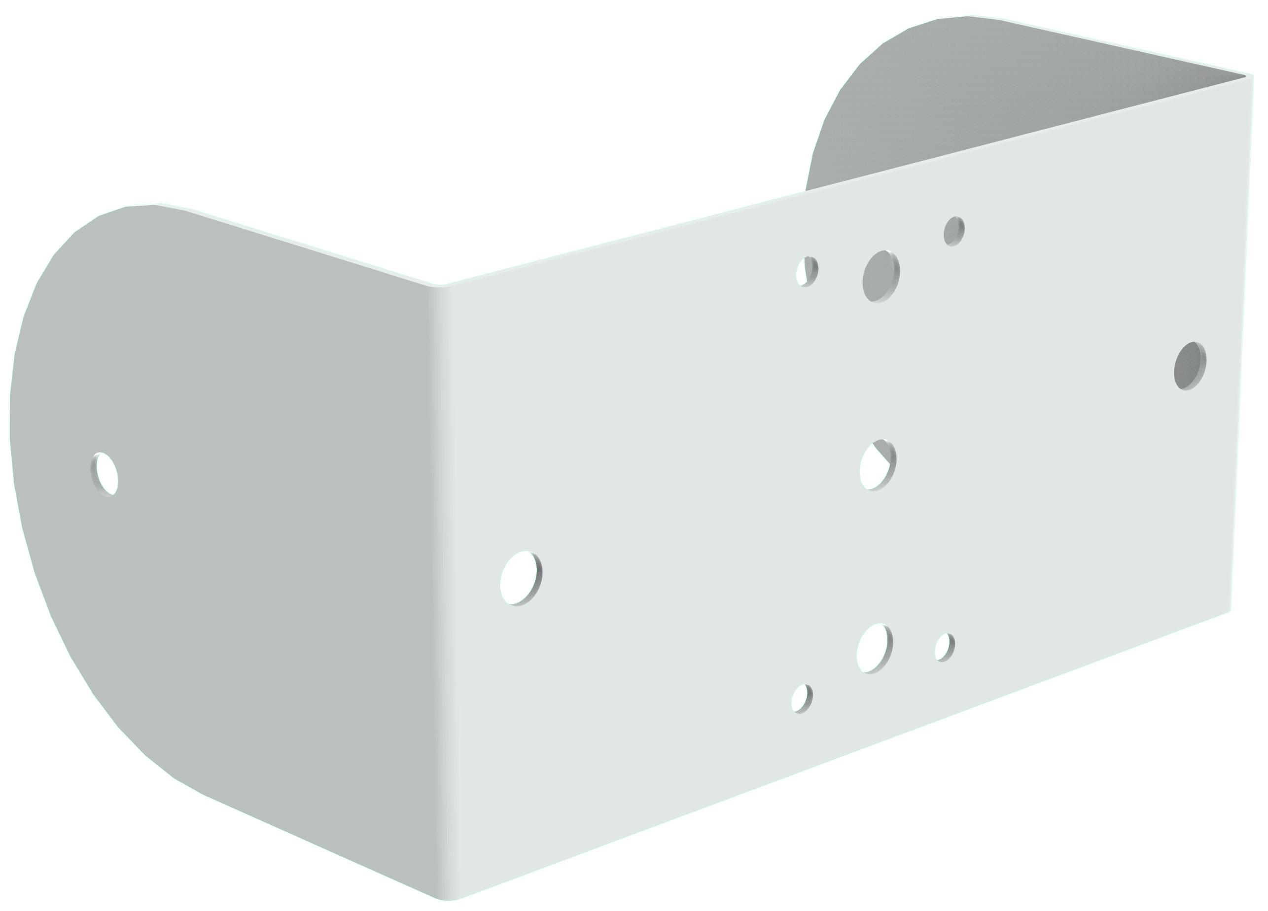 Wall/Ceiling Yoke in White for MX8-W Loudspeaker
