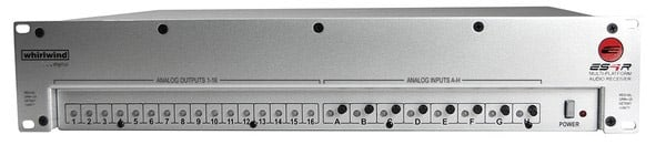 Digital Audio Receiver with 8 Line Inputs for Cobranet