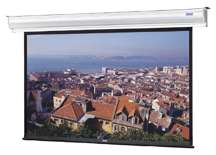 "84"" x 84"" Contour® Electrol® Wall and Ceiling Mounted Electric Screen in Matte White"