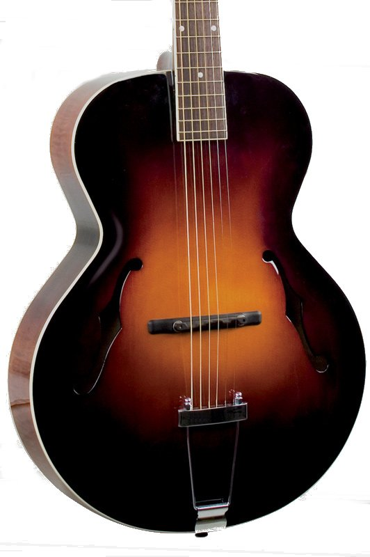 Gloss Vintage Sunburst Archtop Acoustic Guitar with Spruce Top