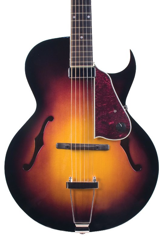 Gloss Vintage Sunburst Archtop Cutaway Acoustic/Electric Guitar with Humbucking Pickup