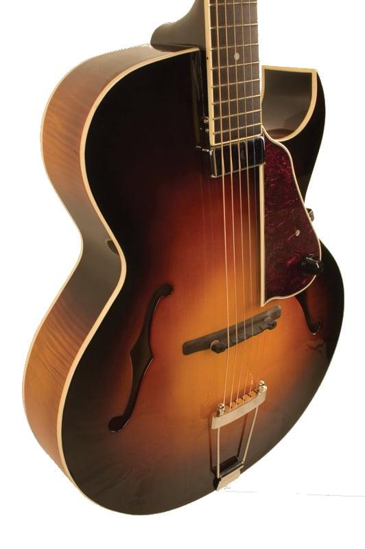 the loar lh 650 vs gloss vintage sunburst archtop cutaway acoustic electric guitar with. Black Bedroom Furniture Sets. Home Design Ideas