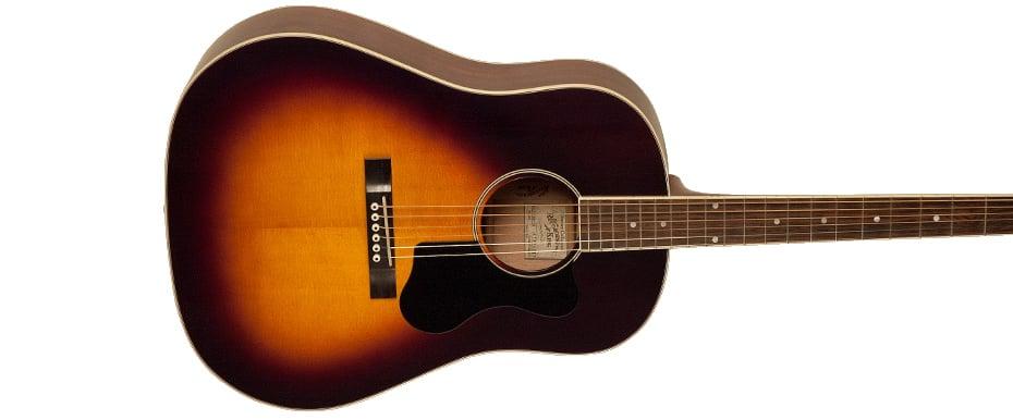 Slope Shoulder Gloss Vintage Sunburst Acoustic Guitar with All Solid Construction