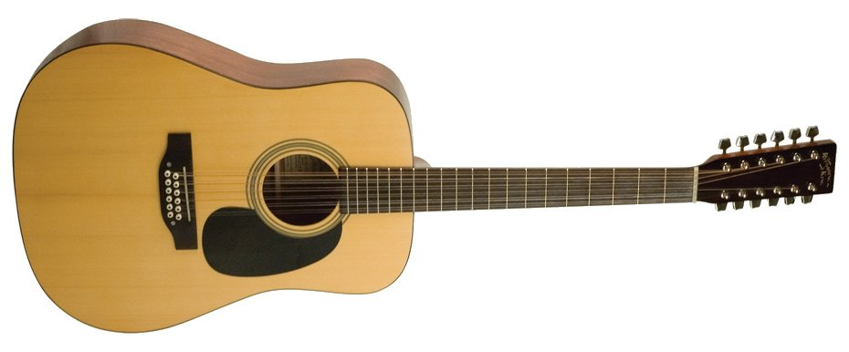 Gloss Natural Dreadnought 12-String Acoustic Guitar with Sitka Spruce Top