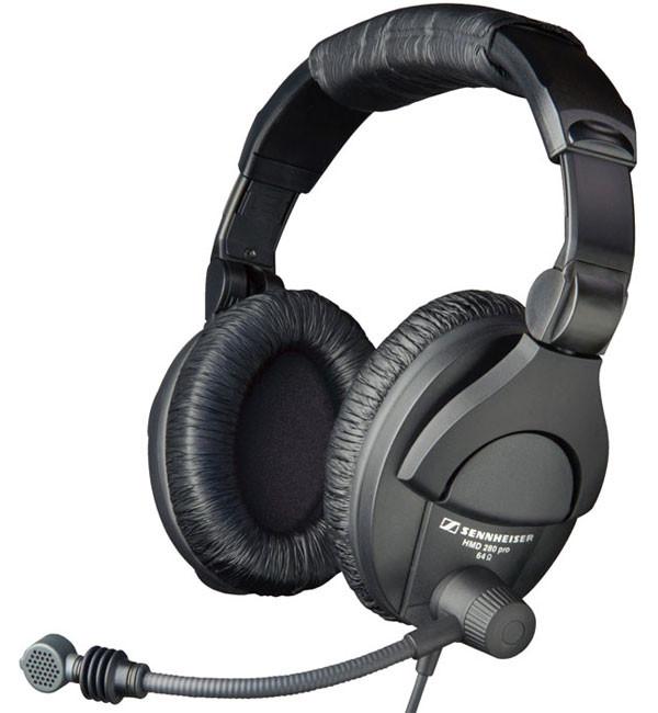 Supraural Closed Headphones with Boom Microphone