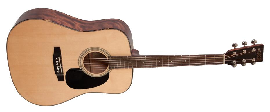 Natural Gloss Dreadnought Acoustic Guitar with Mahogany Back/Sides