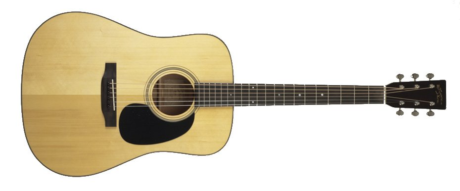 Nitrocellulose Natural Dreadnought Acoustic Guitar with Adirondack Spruce Top