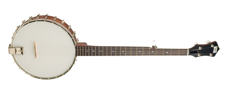 Madison Series Brown Satin Open Back Banjo with 3-Ply Maple Rim