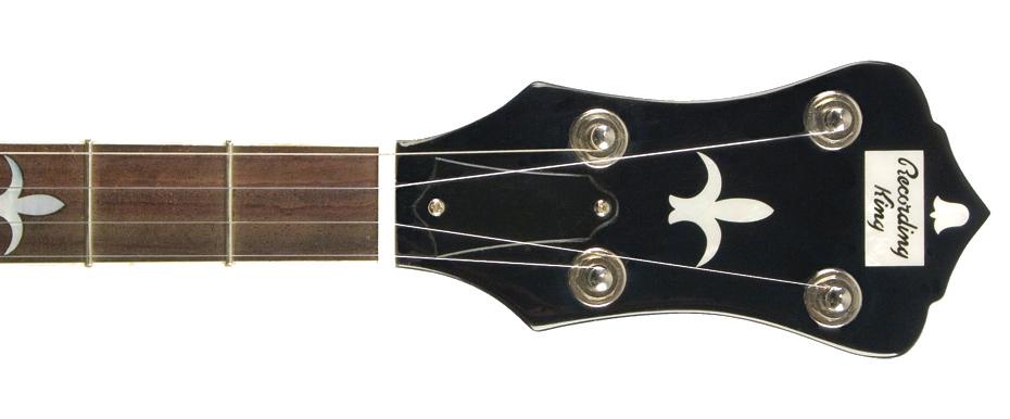 Madison Series Brown Satin Resonator Banjo with Mastertone-Style Tone Ring