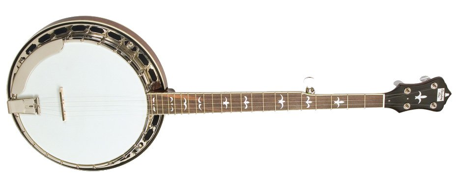 Madison Series Gloss Brown Resonator Banjo with Mastertone-Style Tone Ring