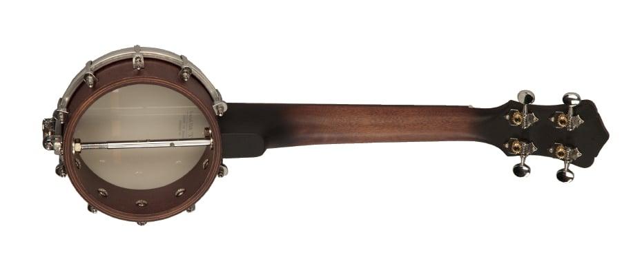 Brown Satin Banjolele with Nickel Hardware