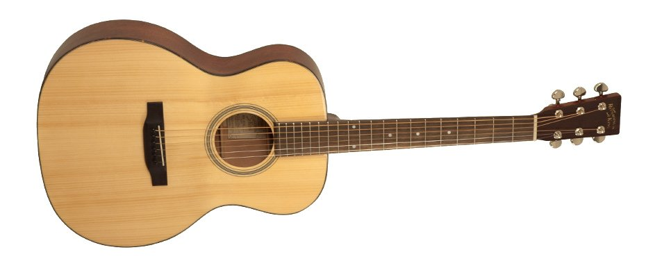 Gloss Natural 000-Style Acoustic Guitar with Adirondack Spruce Top