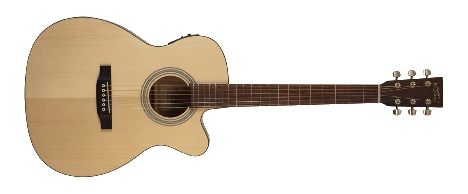 Matte Natural Cutaway 000-Style Acoustic Guitar with Fishman Preamp