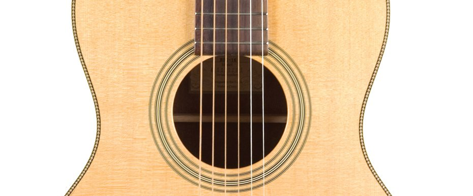 Gloss Natural 12th-Fret 000-Style Acoustic Guitar with Mahogany Neck