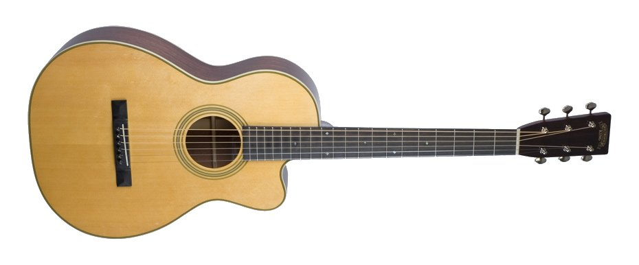 Nitrocellulose Natural Cutaway 00-Style Acoutic Guitar with African Mahogany Back/Sides