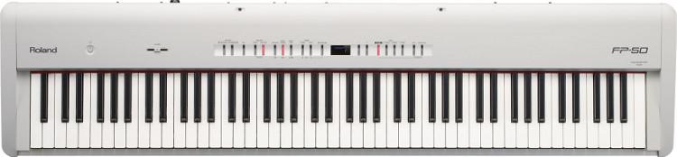 88-Key Digital Piano in White