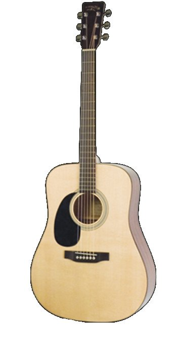 Gloss Natural Left-Handed Dreadnought Acoustic Guitar with Sitka Spruce Top