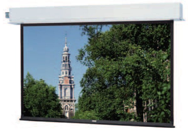 """58"""" x 104"""" Concealed-In-The-Ceiling Electric Screen with Integrated Low Voltage Control and Silent Motor"""