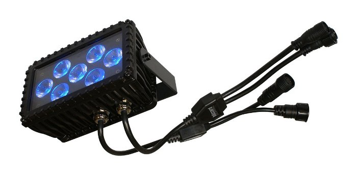 7 x 3W LED Wash Fixture with Remote