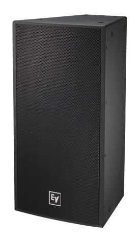 "12"" Two-Way Speaker with 90x40 Degree Waveguide in Black"