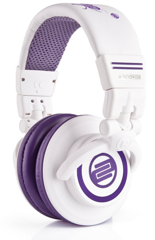 On-Ear Headphones with Purple Finish