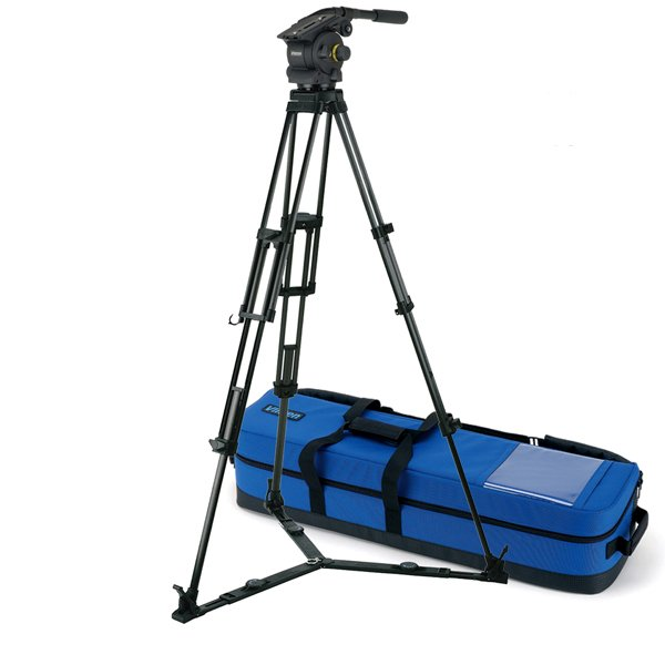 Vision 100 2-Stage Carbon Fibre Pozi-Loc Tripod with Floor Spreader, 100mm Bowl, and Soft Case
