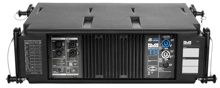 DB Technologies DVA T8 175W 3-Way Active Line Array Speaker in Black DVA-T8