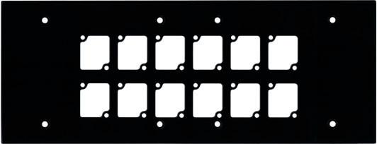6 Gang Wall Panel with 12 Cutouts