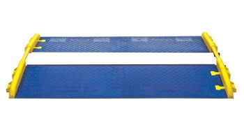 Pair of GuardDog 5-Channel CrossGuard Ramp Attachments in Blue