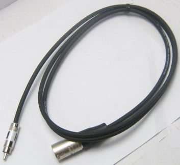 3 ft. RCA-M to XLR-M Patch Cable
