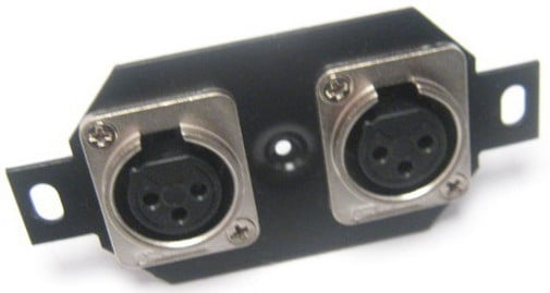 Floor Plate with 2x Receptacles for Mic Input Connectors