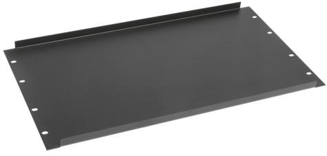 6 RU Black Recessed Blank Panel