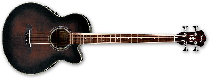Dark Violin Sunburst Acoustic/Electric Bass with Fishman Sonicore Pickup
