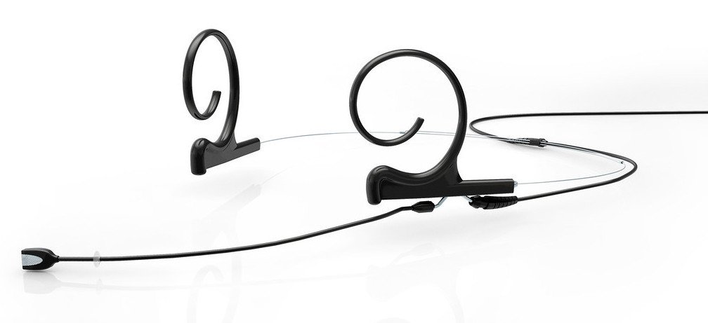d:fine Omnidirectional Dual Ear Headset Microphone with Medium Boom in Black