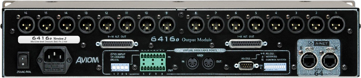 Pro64 Series 16-Channel Mic Output Module with XLR/DB25 Connectors